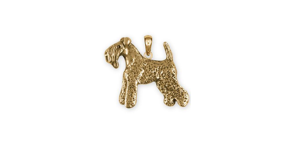 Kerry Blue Terrier Glossy Oval Jewelry  Kerry Blue Terrier 14K Gold or Sterling Silver Charm in Classic Oval Pendant Necklace