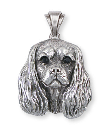Cavalier King Charles Spaniel Pendant Jewelry Handmade Sterling Silver KC14-P