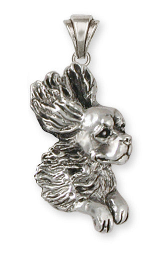 Cavalier King Charles Spaniel Pendant Jewelry Handmade Sterling Silver KC15-P
