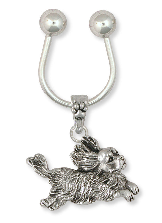 Cavalier King Charles Spaniel Key Ring Jewelry Handmade Sterling Silver KC16-K