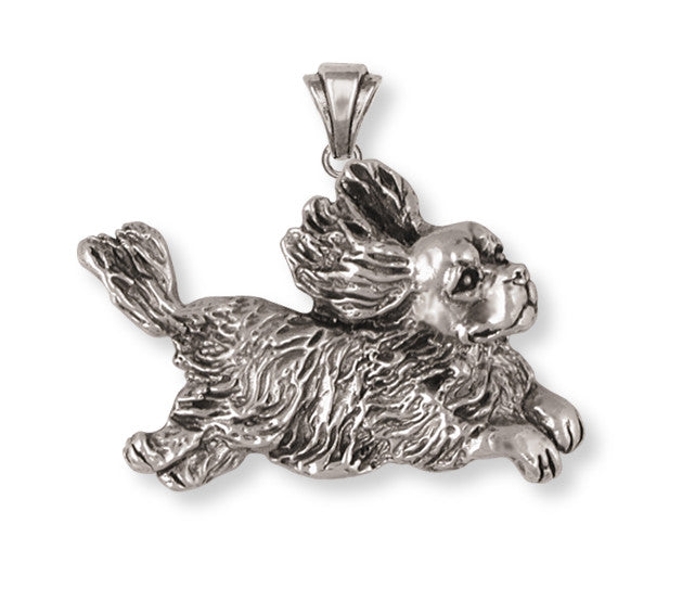 Cavalier King Charles Spaniel Pendant Jewelry Handmade Sterling Silver KC16-P