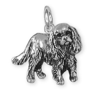 Cavalier King Charles Spaniel Charm Jewelry Handmade Sterling Silver KC17-C