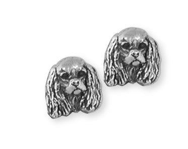 Cavalier King Charles Spaniel Earrings Jewelry Handmade Sterling Silver KC20-E