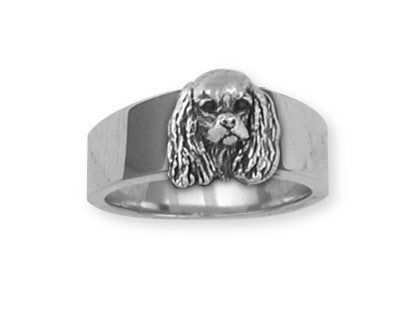 Cavalier King Charles Spaniel Ring Jewelry Handmade Sterling Silver KC20-R
