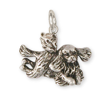 Cavalier King Charles Spaniel Angel Charm Jewelry Handmade Sterling Silver KC24-AC