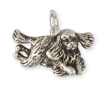 Cavalier King Charles Spaniel Charm Jewelry Handmade Sterling Silver KC24-C