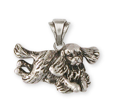 Cavalier King Charles Spaniel Pendant Jewelry Handmade Sterling Silver KC24-P