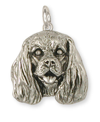 Cavalier King Charles Spaniel Charm Jewelry Handmade Sterling Silver KC25-C