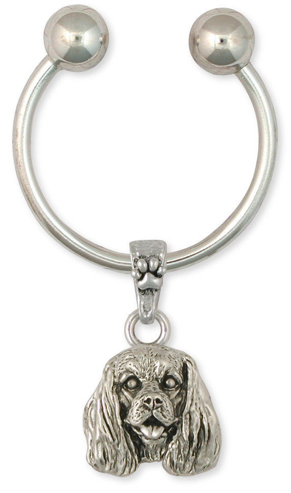 Cavalier King Charles Spaniel Key Ring Jewelry Handmade Sterling Silver KC25-KR