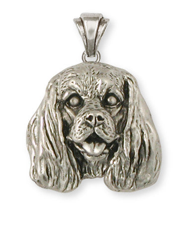 Cavalier King Charles Spaniel Pendant Jewelry Handmade Sterling Silver KC25-P