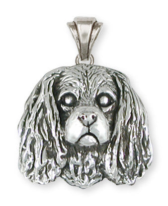 Cavalier King Charles Spaniel Pendant Jewelry Handmade Sterling Silver KC28-P
