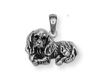 Cavalier King Charles Spaniel Pendant Jewelry Handmade Sterling Silver KC3-P