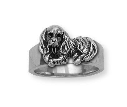 Cavalier King Charles Spaniel Ring Jewelry Handmade Sterling Silver KC3-R