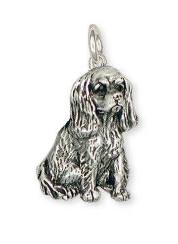 Cavalier King Charles Spaniel Charm Jewelry Handmade Sterling Silver KC4-C
