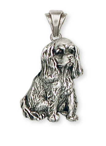 Cavalier King Charles Spaniel Pendant Jewelry Handmade Sterling Silver KC4-P