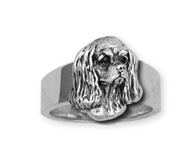 Cavalier King Charles Spaniel Ring Jewelry Handmade Sterling Silver KC5-R