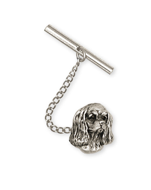 Cavalier King Charles Spaniel Tie Tack Jewelry Handmade Sterling Silver KC5-TT