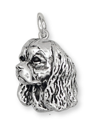 Cavalier King Charles Spaniel Charm Jewelry Handmade Sterling Silver KC8-C