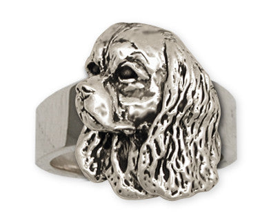 Cavalier King Charles Spaniel Statement Ring Jewelry Handmade Sterling Silver KC8-R