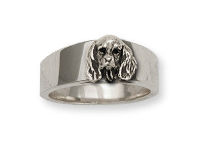 Cavalier King Charles Spaniel Ring Jewelry Handmade Sterling Silver KC9-R