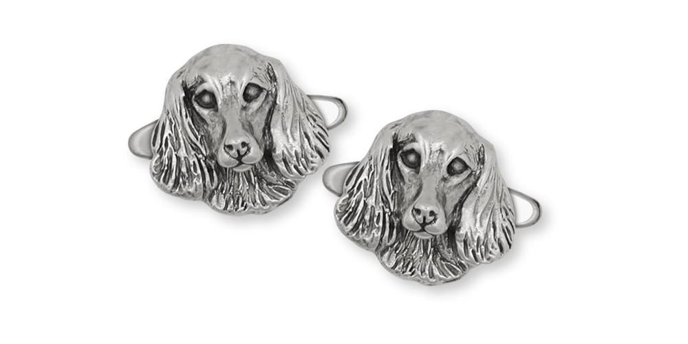 Long Hair Dachshund Charms Long Hair Dachshund Cufflinks Sterling Silver Dog Jewelry Long Hair Dachshund jewelry