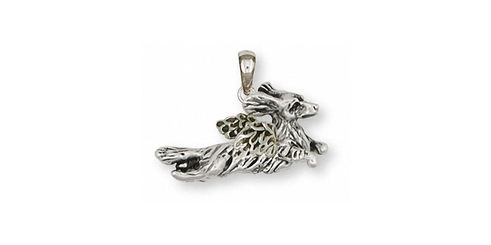 Long Hair Dachshund Charms Long Hair Dachshund Pendant Sterling Silver Dog Jewelry Long Hair Dachshund jewelry