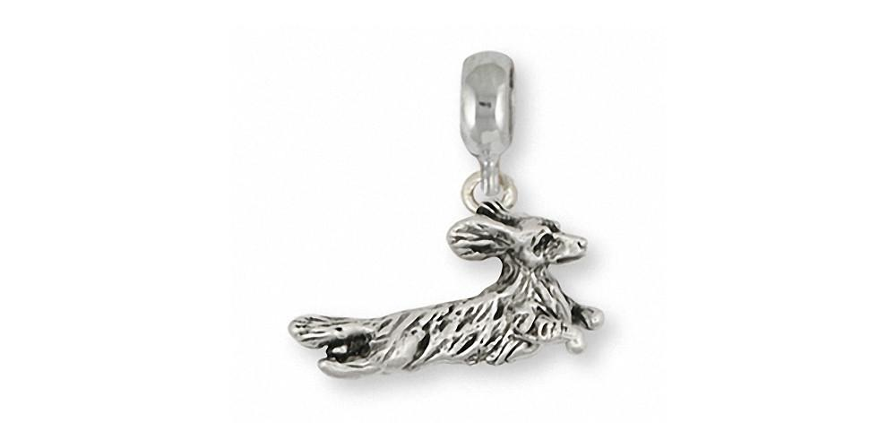 Long Hair Dachshund Charms Long Hair Dachshund Charm Slide Sterling Silver Dog Jewelry Long Hair Dachshund jewelry