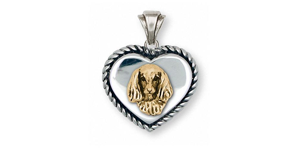 Long Hair Dachshund Charms Long Hair Dachshund Pendant Silver And Gold Dog Jewelry Long Hair Dachshund jewelry
