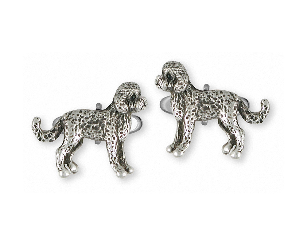 Labradoodle Charms Labradoodle Cufflinks Sterling Silver Dog Jewelry Labradoodle jewelry