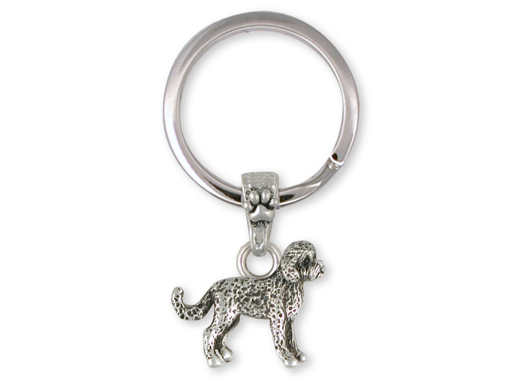 Labradoodle Charms Labradoodle Key Ring Sterling Silver Dog Jewelry Labradoodle jewelry