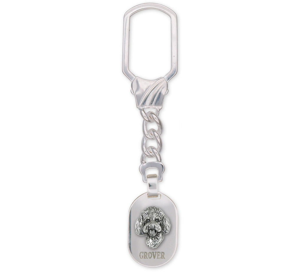 Labradoodle Charms Labradoodle Key Ring Sterling Silver Labradoodle Jewelry Labradoodle jewelry