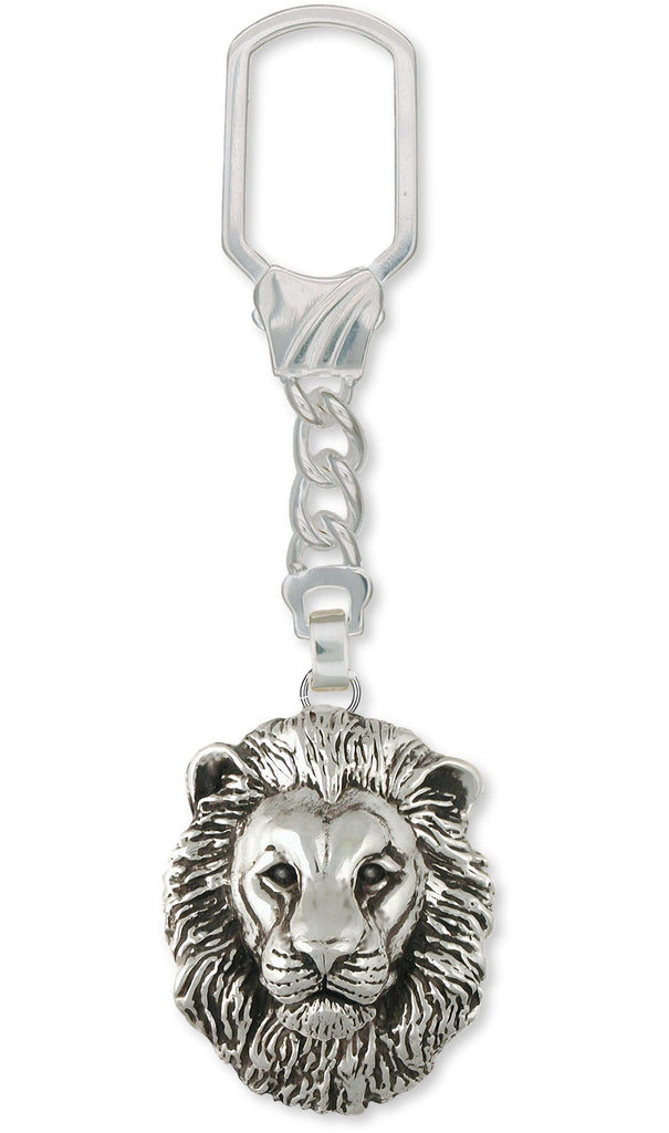 Lion Charms Lion Key Ring Sterling Silver Lion Jewelry Lion jewelry