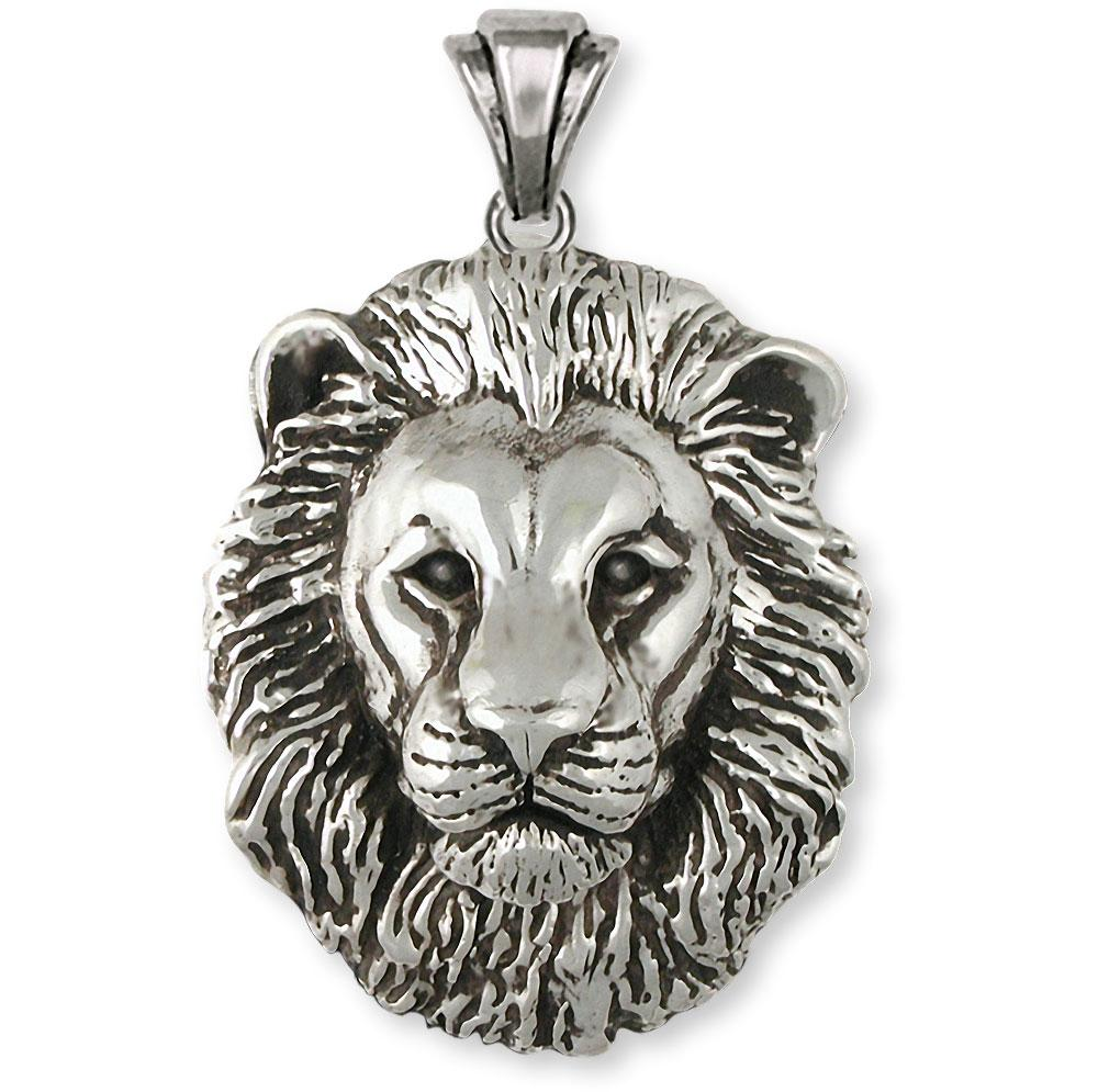 Lion Charms Lion Pendant Sterling Silver Lion Jewelry Lion jewelry