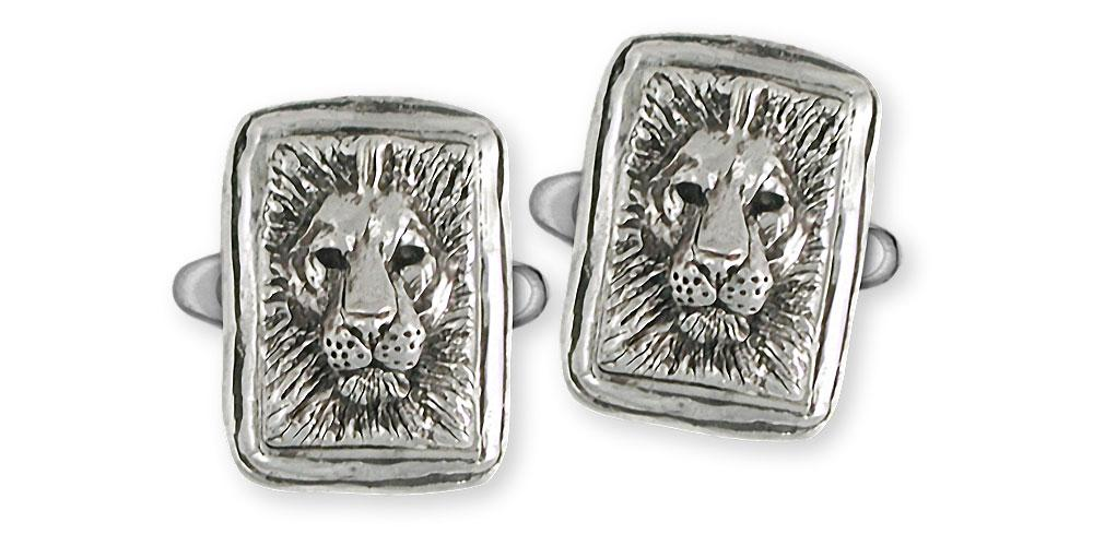 Lion Charms Lion Cufflinks Sterling Silver Lion Jewelry Lion jewelry