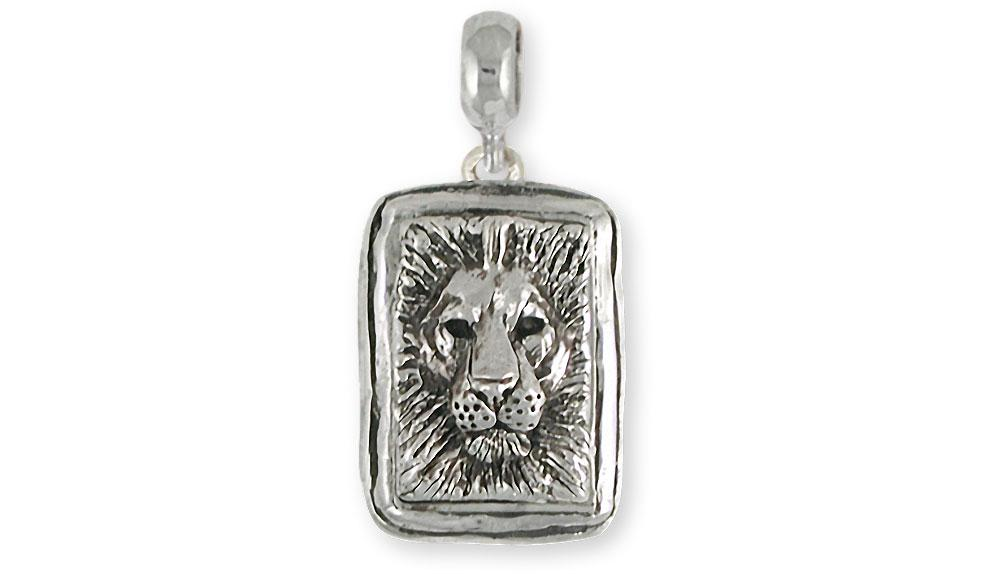 Lion Charms Lion Charm Slide Sterling Silver Lion Jewelry Lion jewelry