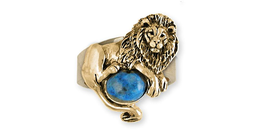Lion Charms Lion Ring 14k Gold Lion Jewelry Lion jewelry
