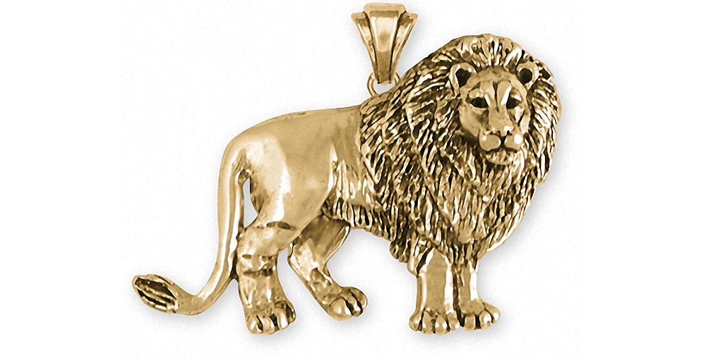 Lion Charms Lion Pendant 14k Gold Lion Jewelry Lion jewelry