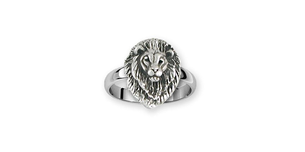 Lion Charms Lion Ring Sterling Silver Lion Jewelry Lion jewelry