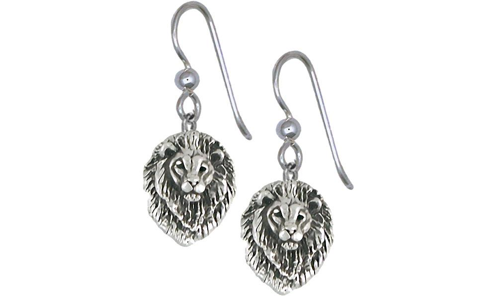 Lion Charms Lion Earrings Sterling Silver Lion Jewelry Lion jewelry