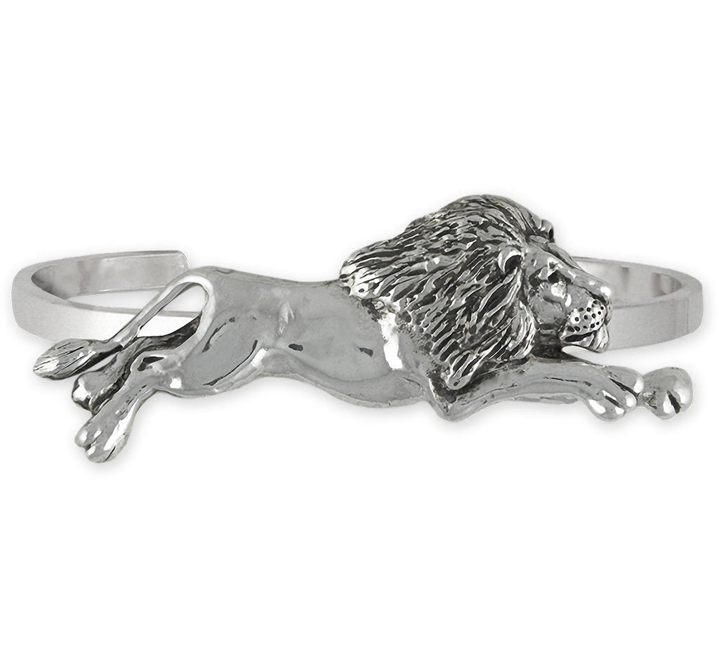 Lion Charms Lion Bracelet Sterling Silver Lion Jewelry Lion jewelry