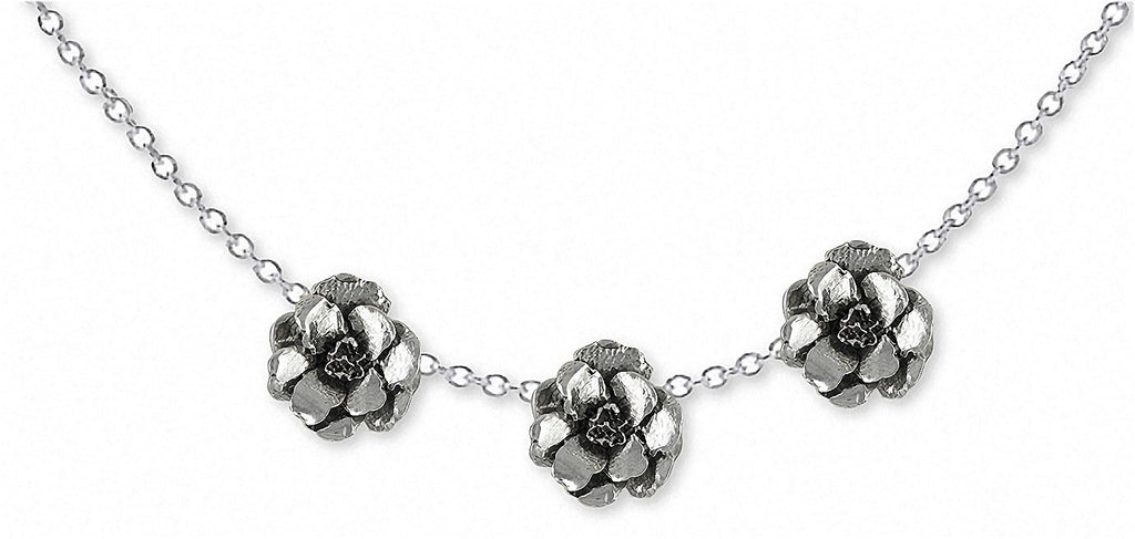Larkspur Charms Larkspur Necklace Sterling Silver Flower Jewelry Larkspur jewelry