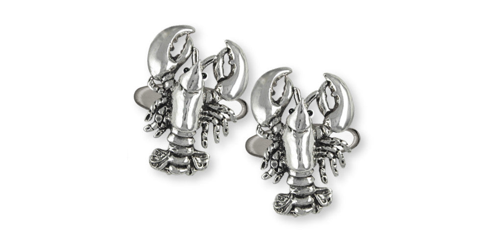 Lobster Charms Lobster Cufflinks Sterling Silver Sealife Jewelry Lobster jewelry