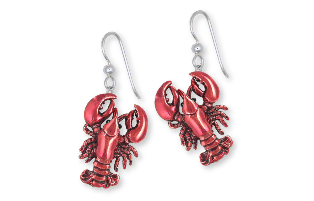 Lobster Charms Lobster Earrings Sterling Silver Sealife Jewelry Lobster jewelry