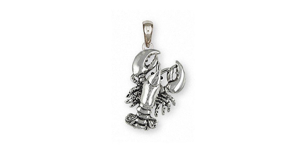 Lobster Charms Lobster Pendant Sterling Silver Sealife Jewelry Lobster jewelry