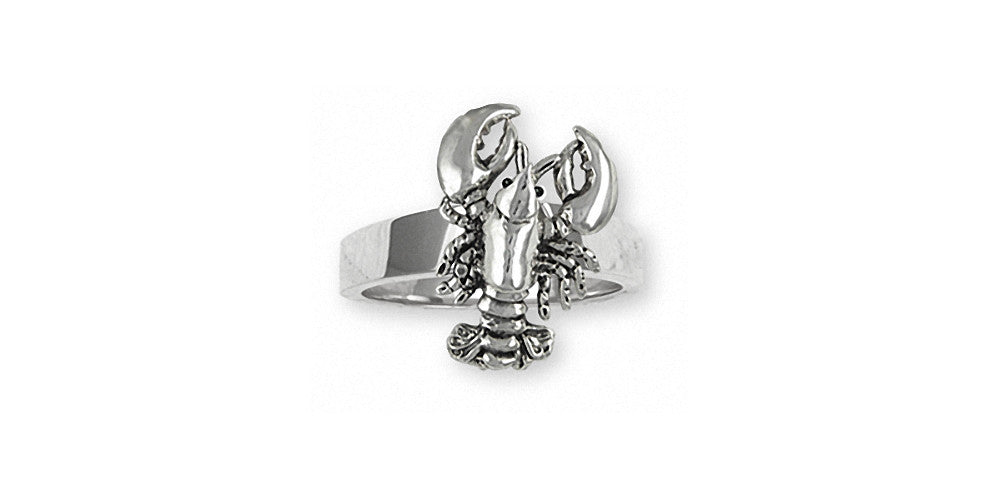 Lobster Charms Lobster Ring Sterling Silver Sealife Jewelry Lobster jewelry