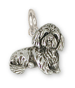 Lhasa Apso Charm Handmade Sterling Silver Dog Jewelry LS18-C