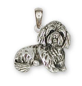 Lhasa Apso Pendant Handmade Sterling Silver Dog Jewelry LS18-P