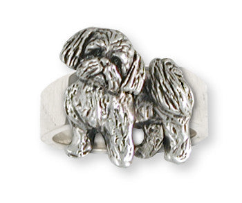 Lhasa Apso Ring Handmade Sterling Silver Dog Jewelry LS21-R