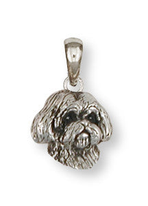 Lhasa Apso Pendant Handmade Sterling Silver Dog Jewelry LSLSZ9H-P