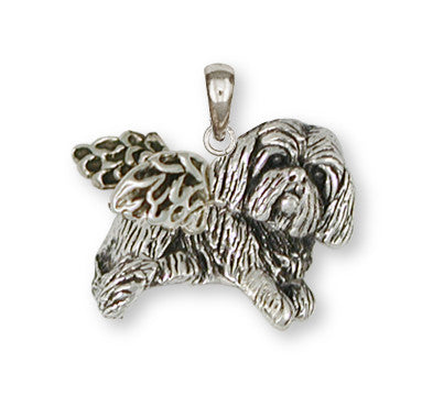 Lhasa Apso Pendant Handmade Sterling Silver Dog Jewelry LSZ17-AP